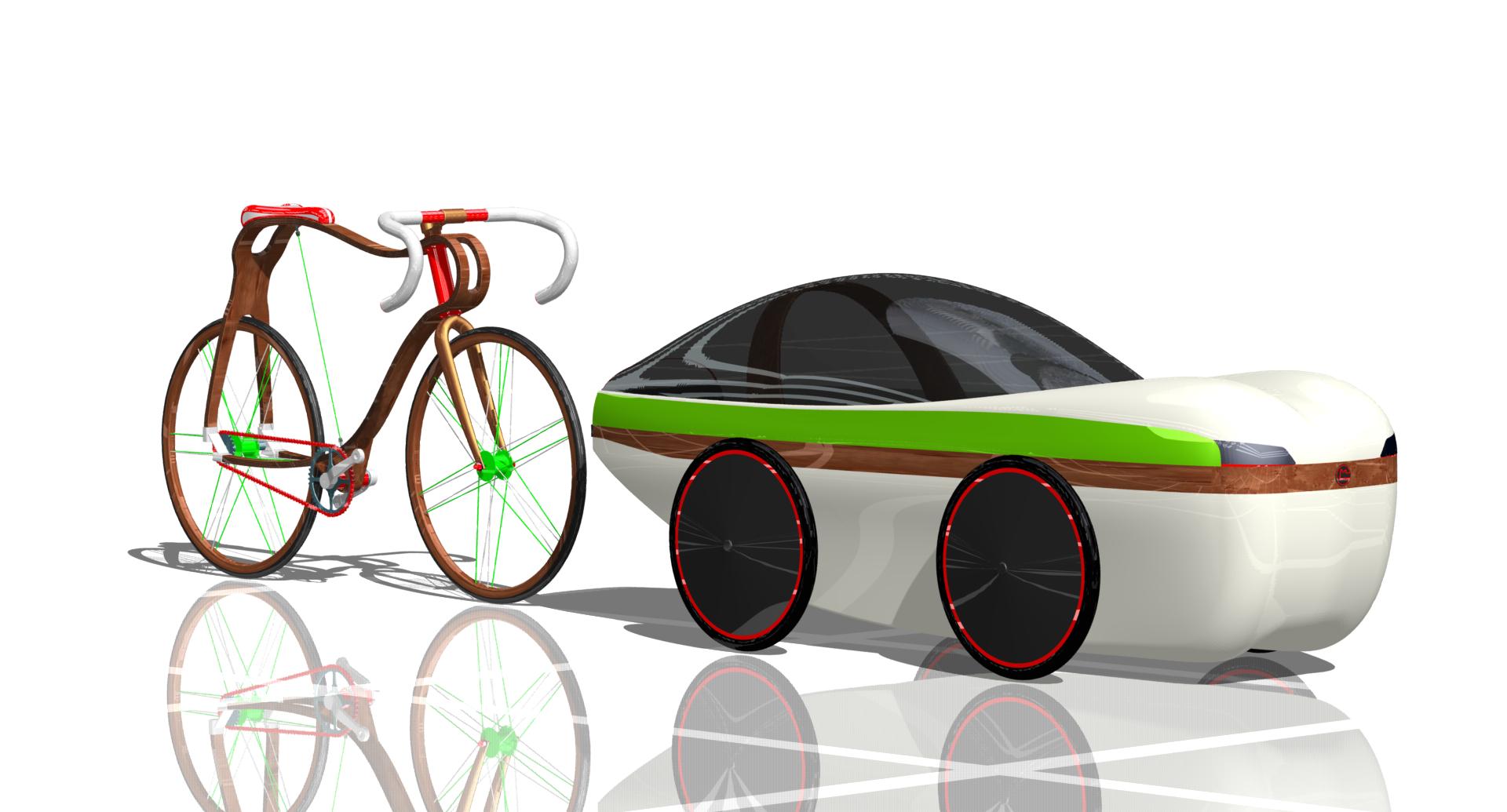 FH Wien – Eco-Design: Prototyp Vierrädriges Fahrzeug basierend auf Fahrradkomponenten